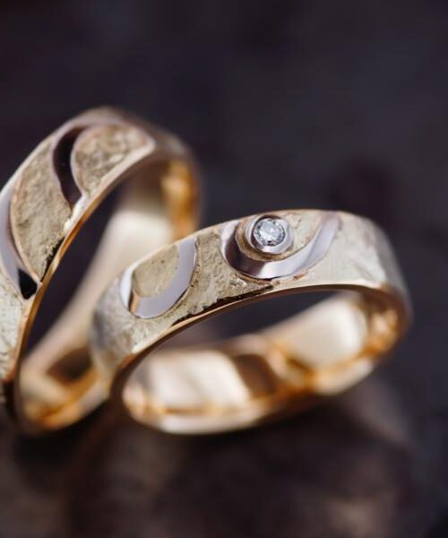 Anfertigung nach Vorlage Eheringe Goldschmiede Mehnert aus Berlin