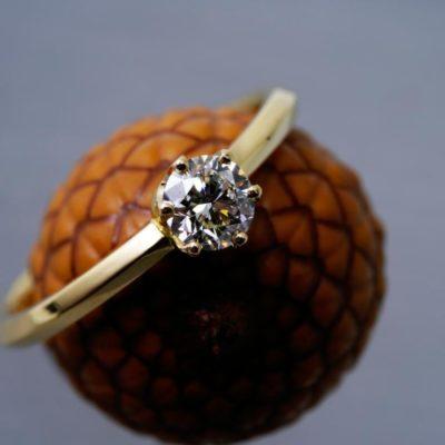 Diamantring Verlobung halbkaraeter
